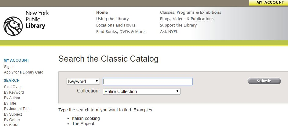 Online Library Card Catalog Lockdown