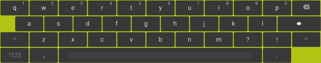 Virtual Keyboard example