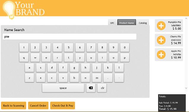 KioPay User Interface