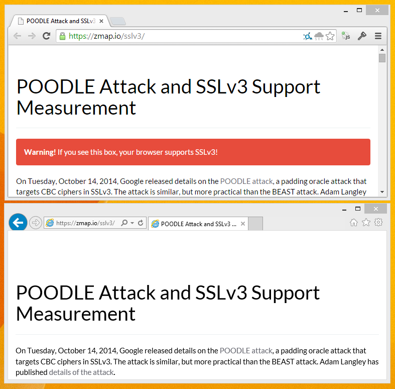 Poodle - SSL 3 Update