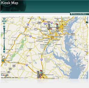 KioWare Server Kiosk System Software Mapping Addon - Location mapping software