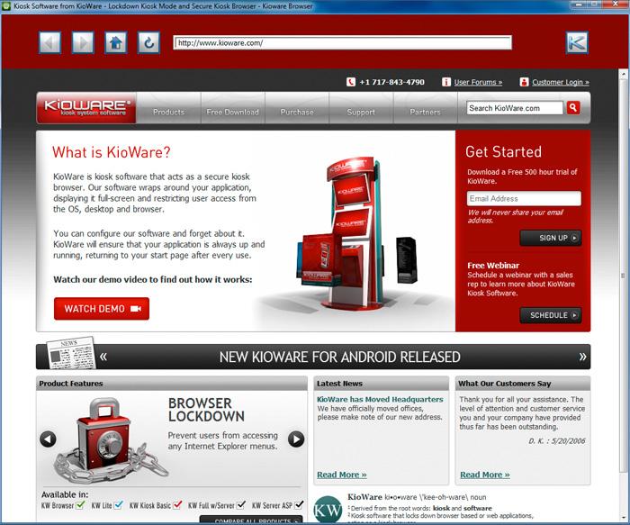 KioWare Browser full screenshot